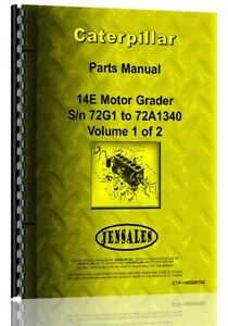Caterpillar 14e Grader Parts Manual s n 72g1 72g1340