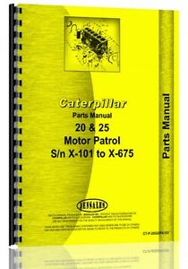 Caterpillar 20 Grader Parts Manual S n X101 x675