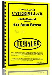 Caterpillar 11 Grader Parts Manual S n 1f1