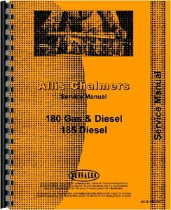 Allis Chalmers 185 Tractor Service Manual all Serial Numbers
