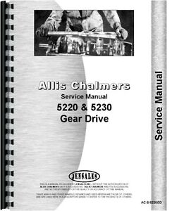 Allis Chalmers 5220 5230 2 4 Wheel Drive Synchro Tractor Service Manual