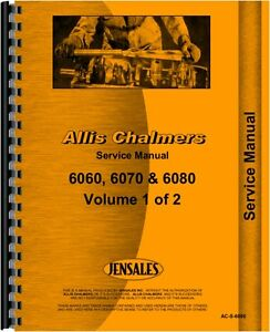 Allis Chalmers 6060 6070 6080 Tractor Service Manual ac s 6060
