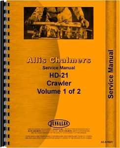 Allis Chalmers Hd21 Hd21a Hd21p Crawler Service Manual ac s hd21