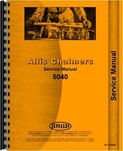 Allis Chalmers 5040 Tractor Service Manual 1976 1980