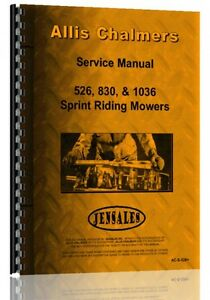 Allis Chalmers 526 830 1036 Lawn Garden Tractor Service Manual ac s 526