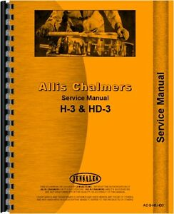 Allis Chalmers H3 Hd3 Crawler Service Manual ac s h3 hd3