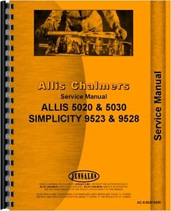 Allis Chalmers 5020 5030 Tractor Service Manual ac s 5020 5030