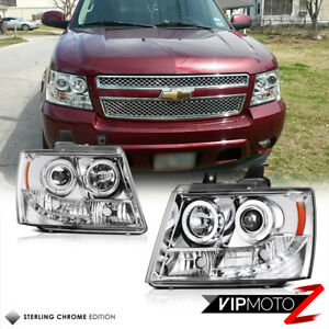 Angel Eye Halo Led Projector Headlight Lamp 07 14 Chevy Suburban Tahoe Avalanche