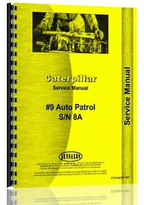 Caterpillar Auto Patrol Grader Service Manual ct s auto Pat