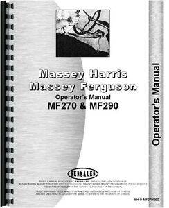 Massey Ferguson 270 290 Tractor Operators Manual mh o mf270 290