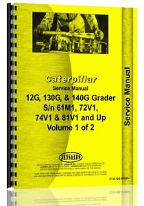 Caterpillar 12g Grader Service Manual sn 61m1 Up