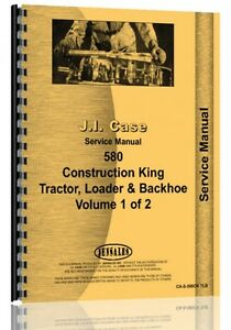 Case 580 Tractor Loader Backhoe Service Manual