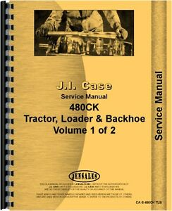 Case 480 Industrial Tractor Service Manual Ca s 480ck Tlb