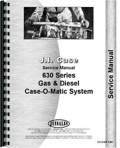 Case 630 Tractor Service Manual Transmission And Rear Axle Only ca s 630 G