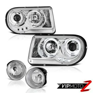 2005 2010 Chrysler 300c Chrome Led Daytime Left Right Lh Rh Headlights Foglights