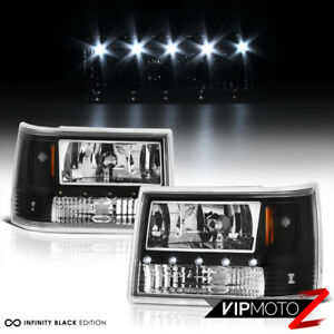 so Cool For 93 98 Jeep Grand Cherokee Zj Black Led Drl System Headlights L r