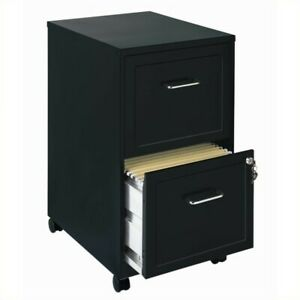 Space Solutions Soho Mobile 2 Drawer File Cabinet In Black
