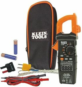 Klein Tools True Rms Auto ranging Digital Clamp Test Meter 600 Amp Ac dc Voltage