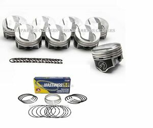 Chevy 7 4 454 Speed Pro Hypereutectic 22cc Dome Pistons Moly Rings Kit 8 030