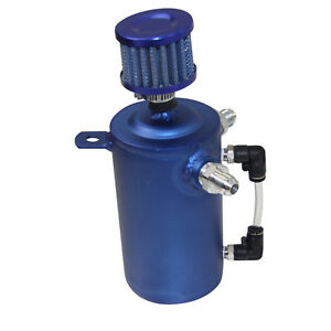 500ml Aluminum Oil Catch Can Oil Breather Tankw Stainless Filter Universal