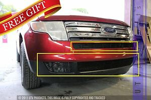 Gtg 2007 2010 Ford Edge 4pc Gloss Black Overlay Bumper Billet Grille Grill Kit