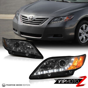 For 07 09 Toyota Camry Le Se Ce Projector Smoke Headlight L R Drl Daytime Lamp
