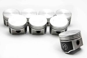 Speed Pro Chrysler Dodge 440 Forged Flat Top 4 Bbl Pistons Race Rings 30 Ovsz