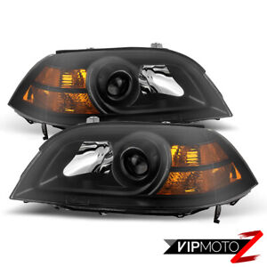For 04 06 Acura Mdx Base touring Black Front Headlight Left Right Assembly Lamp