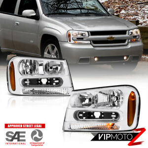 2002 2009 Chevrolet Trail Blazer Front Factory Style Headlights Pair 02 06 Ext