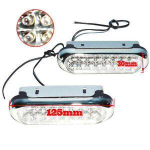 2x Universal White 16 Led Car Daytime Running Light Drl Fog Day Driving Lamp 12v