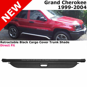 For Jeep Grand Cherokee 99 04 Retractable Black Cargo Cover Trunk Luggage Shade