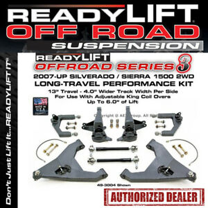 Readylift 07 13 2wd Gm Chevy 1500 Long Trave Kit 6 Inches Front Lift 49 3004