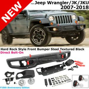 Jeep Jk Wrangler 07 18 Full Metal Rubicon 10th Anniversary Style Front Bumper