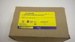 Square D Motor Starting Switch 2510kg5b Type 1 Enclosure New