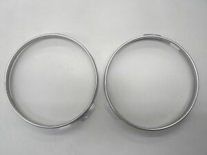 55 56 57 Ford Thunderbird T Bird Headlight Bulb Retainer Ring Ss New