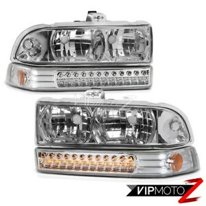 Chevy 98 04 Blazer S10 Factory Style Clear Headlight Led Bumper Signal Lamp