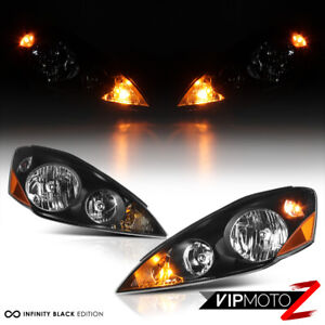 For 2006 2010 Toyota Sienna Le Xle Black Factory Style Headlight Left Right Lamp