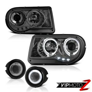 05 10 Chrysler 300c 5 7l Projector Halo Led Headlights Lh Rh Pair Glass Fog Lamp
