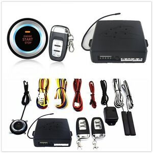 Multifunction Keyless Entry Engine Start Push Button Remote Starter Alarm System