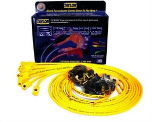 Taylor Cable 73453 Spark Plug Wire Set Spiro Pro Yellow 8mm Universal
