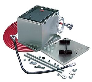 Taylor 48101 Aluminum Battery Box W 16 Ft 2 Gauge Battery Cable Kit 13 5 In