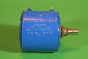 Bourns 10 Turn 3400 1 204 Potentiometer Variable Resistor 200k Linear