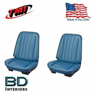 1966 Chevy Chevelle Malibu Front Bucket Seat Upholstery Blue Made In Usa By Tmi