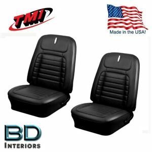 1968 Camaro Coupe Deluxe Black Front Rear Seat Upholstery By Tmi