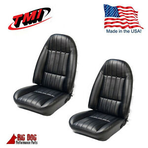 1971 1977 Chevy Camaro Black Front Bucket Seat Upholstery Set Tmi Made In Usa