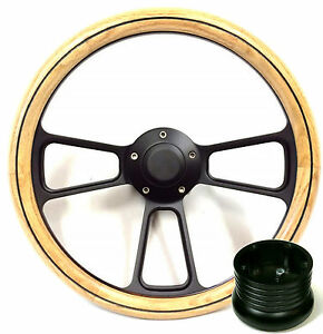 Hot Rod Street Rod Rat Rod Truck Oak Pbk Billet Steering Wheel Horn Adapter