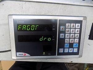Fagor Milling Dro System 2 Axis 12 Y axis Travel 30 X axis Travel Prokit 1