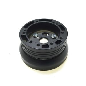 1989 To 91 Ford Mustang Billet Steering Wheel Adapter Adapter 5 6 Hole Black