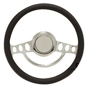 Chrome Hot Rod Steering Wheel Full Kit For Gm Columns Ididit Etc Any Color
