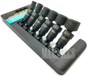 6pc 1 4 Drive Universal Swivel Impact Socket Set Professional Sae Socket